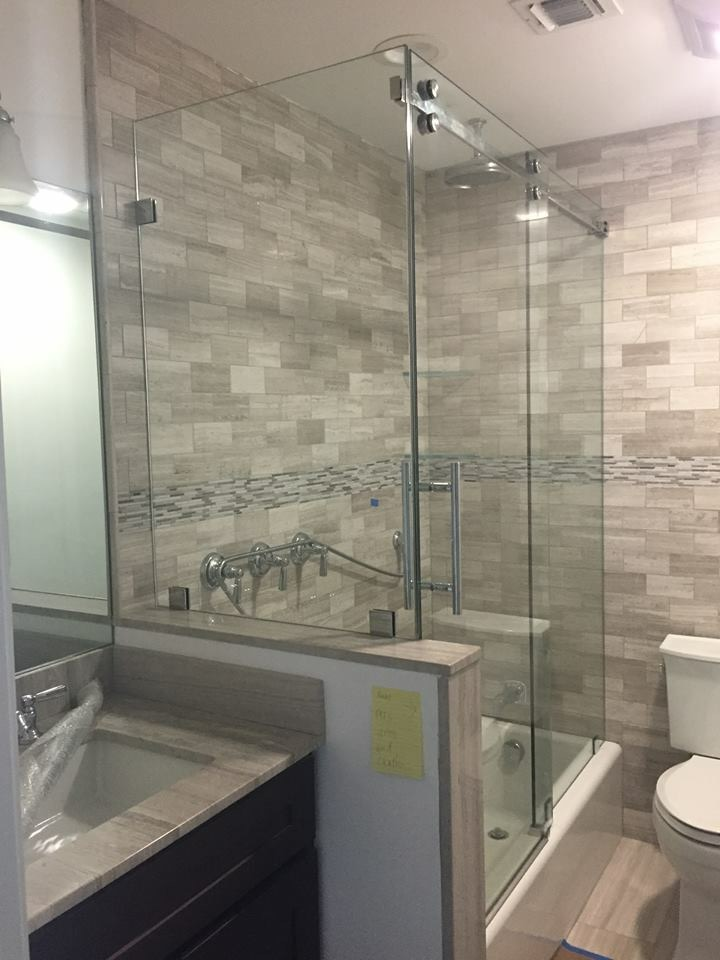 Each Frameless Shower Door Is Custom Made With Glass Cut To Fit The Exact Dimensions Of Your Walls Available In 1 2 Inch And 3 8 Inches