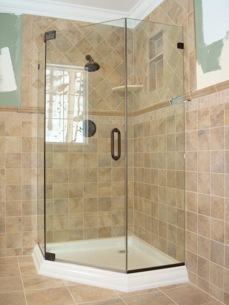 Bernar glass inc services Bathroom tile showers